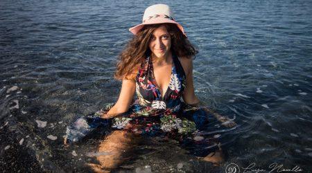 Shooting ragazza al mare
